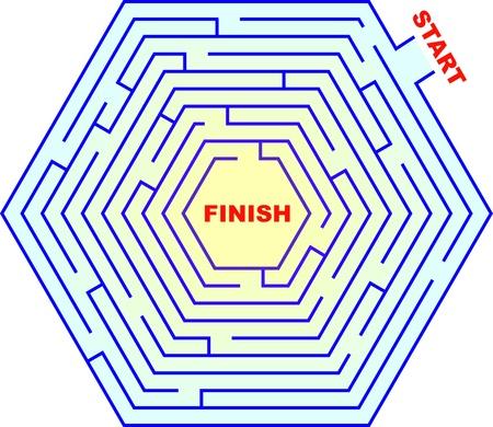 kwis: Een zeshoekige doolhof Kan je van begin tot eind