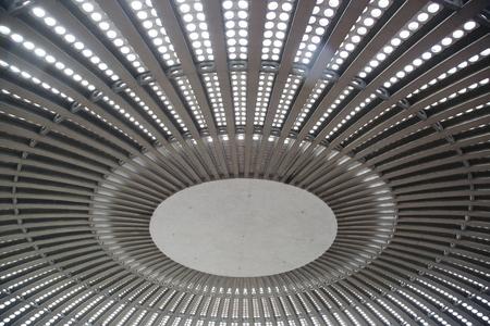 estructura: estructura de la cubierta del techo textura abstracta en su interior la luz Foto de archivo
