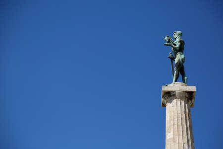 Victor monument at Kalemegdan fortress in Belgrade Reklamní fotografie