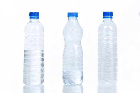 water bottles: Three Water bottles Stock Photo