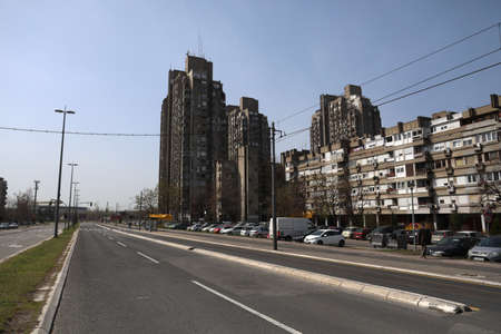 BELGRADE, SERBIA - MARCH 28, 2020: Deserted streets, As the Corona Virus continues to spread all over Serbia, government imposed curfew to prevent the spread of coronavirus disease, during the day  people can only go outside for existential things such as