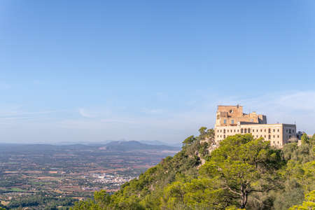 General view of the island of Mallorca from the Sanctuary of Sant Salvador. Island of Majorca, Balearic Islands, Spain Stok Fotoğraf - 160705884