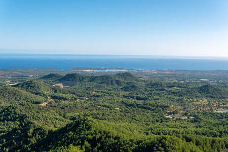 Mediterranean mountain landscape on a sunny day. Island of Mallorca, Spain Stok Fotoğraf - 161628827