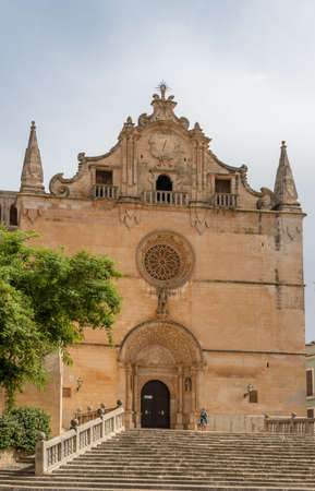Felanitx, Spain; September 25 2021: General view of the parish of Sant Miquel, in the Majorcan town of Felanitx on a sunny day