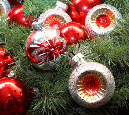 christmastree: Christmas-tree decorations. Stock Photo