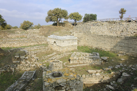 The ruins of ancient Greek city of Troy