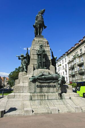 krakow: The monument of the Battle of Grunwald in Krakow