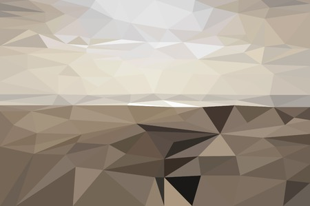 pictured: The salt lake landscape illustration pictured in low poly style Illustration