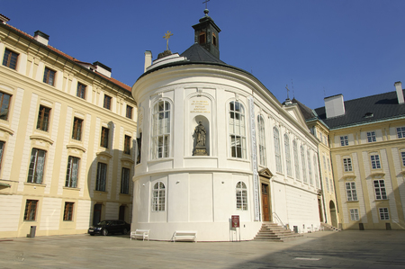 treasury: Prague, Czech - 03 July, 2015: The Building og Treasury of the St. Vitus Cathedral Editorial