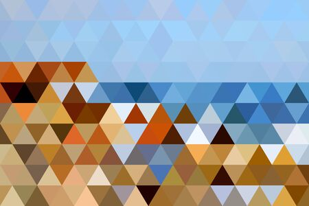 black sea: The abstract landscape of Black Sea shore composed of equilateral triangles