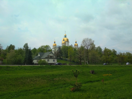 The Church of the Assumption of Holy Virgin in the town of Dolyna in Ivano-Frankivsk region of Ukraine Stock fotó