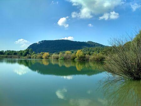 Lake in Nadvirna Stock Photo