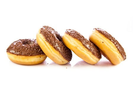 donuts isolated on white background photo