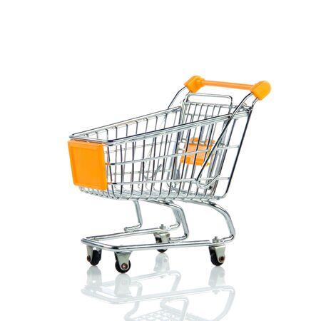 shoppingcart: shopping trollly isolated on white background Stock Photo