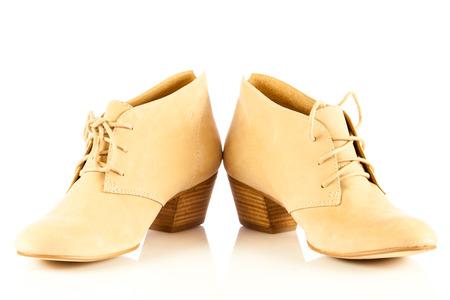 high heel women shoes on white  photo
