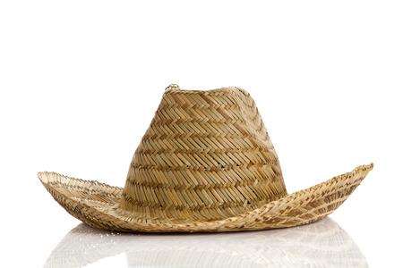 resistol: sombrero mexicano aislado en fondo blanco Foto de archivo