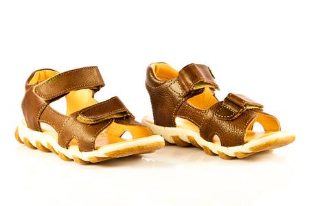 sandals isolated on white background photo