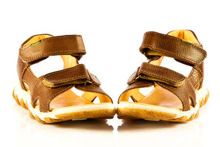 sandals isolated on white background photo