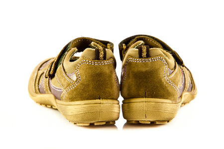 children shoes isolated  on white background  freestyle comfort colorful photo
