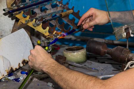 trabajo manual: Trabajo hecho a mano creativo figuras de cristal de cristal hecho a mano