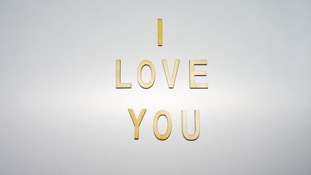 backgound: message i love you letter on backgound