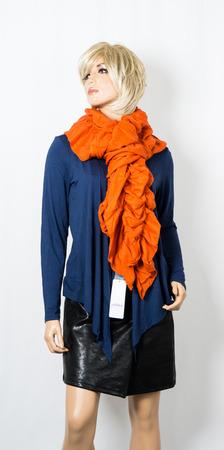 dummy: fashion female dummy on white background scarf
