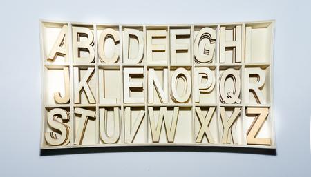 prinitng block: alphabet letters English abc