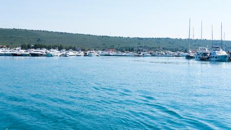 super yacht: numerous yachts in the Port of  Zadar. Croatia