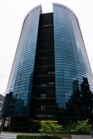 modern business building in Tallinn. skyscraper