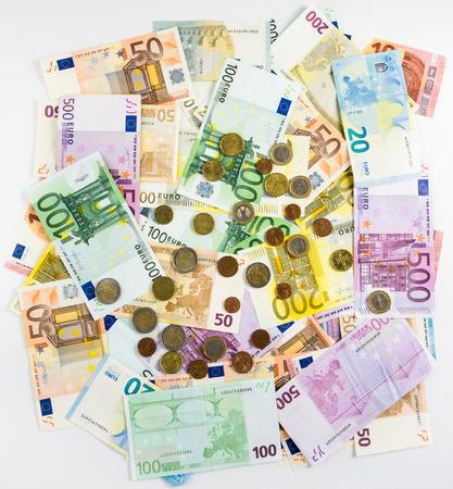 banconote euro: banconote e monete in euro di denaro