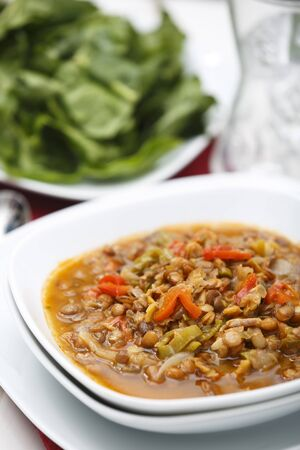 Lentils with Green Salad