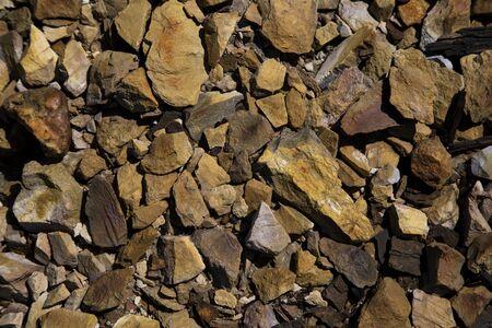 Background of stones in Rio Tinto