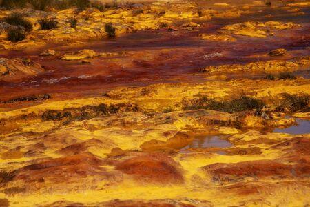 Beautiful landscape in Huelva, Rio Tinto 스톡 콘텐츠