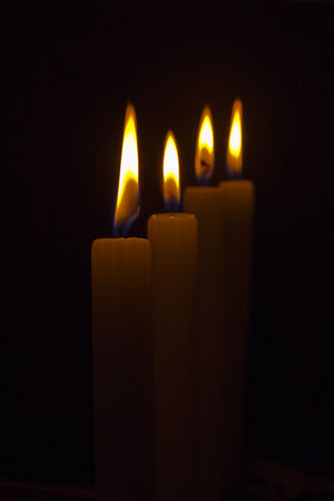 ammonium: Candles Stock Photo