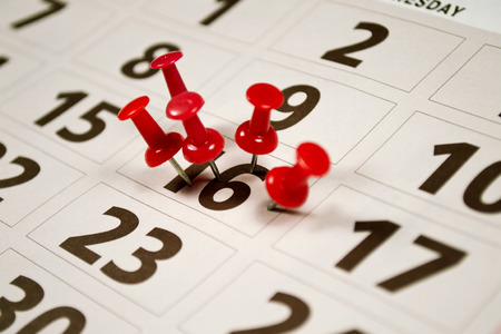 important date: Important date or concept for busy day being overworked
