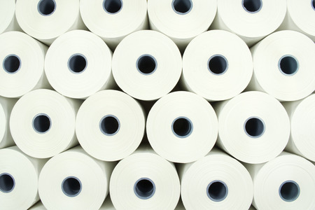 Abstract view of Industrial roll of paper photo