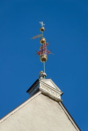 anno: Ornamental weathervane on Tallinn townhall.