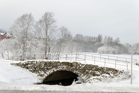 Old stone bridge, called  photo
