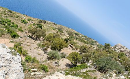 angled view: Angled view of the plateau above Dingli Cliffs on Malta.