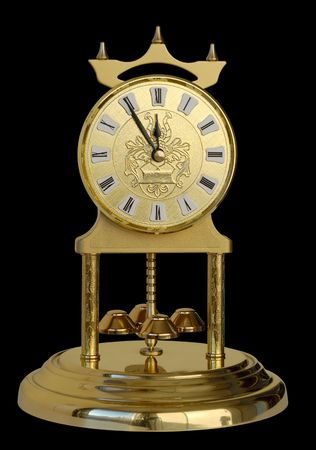 Decorative clock showing five minutes to twelve. Stock Photo - 3834646