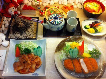 man made: Man made imitation Japanese food.