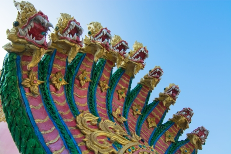 King of Naga against bluesky Stock Photo - 25028054