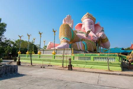 indian god: Ganesh Indian God in Nakorn Nayok, Thailand  Stock Photo