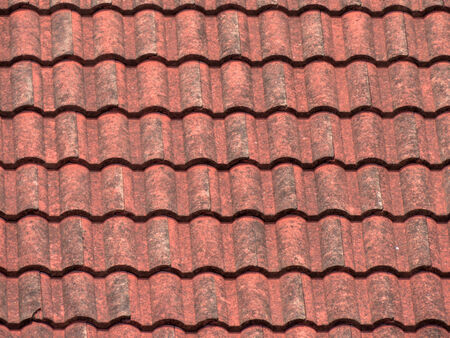 rooftiles: Old rooftiles for background  Stock Photo