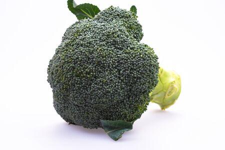 against white: Broccoli against white background.