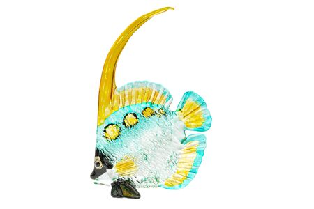 model fish: Fish glass model on white background.