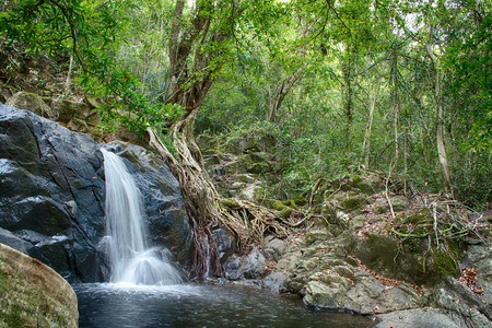 adventurers: JedKod waterfall in Saraburi province Thailand.