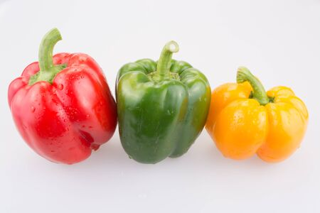 sweet peppers: Sweet peppers  isolated on white background.