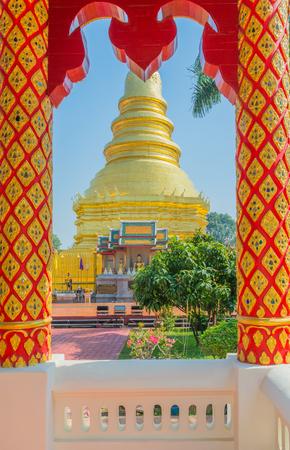 reincarnation: Wat Phrathat Hariphunchai Woramaha Vihan, Buddhis temple in Lamhun, Thailand.