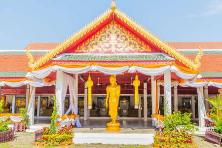 reincarnation: Wat Phrathat Hariphunchai Woramaha Vihan, Buddhist temple in Lamhun, Thailand. Stock Photo